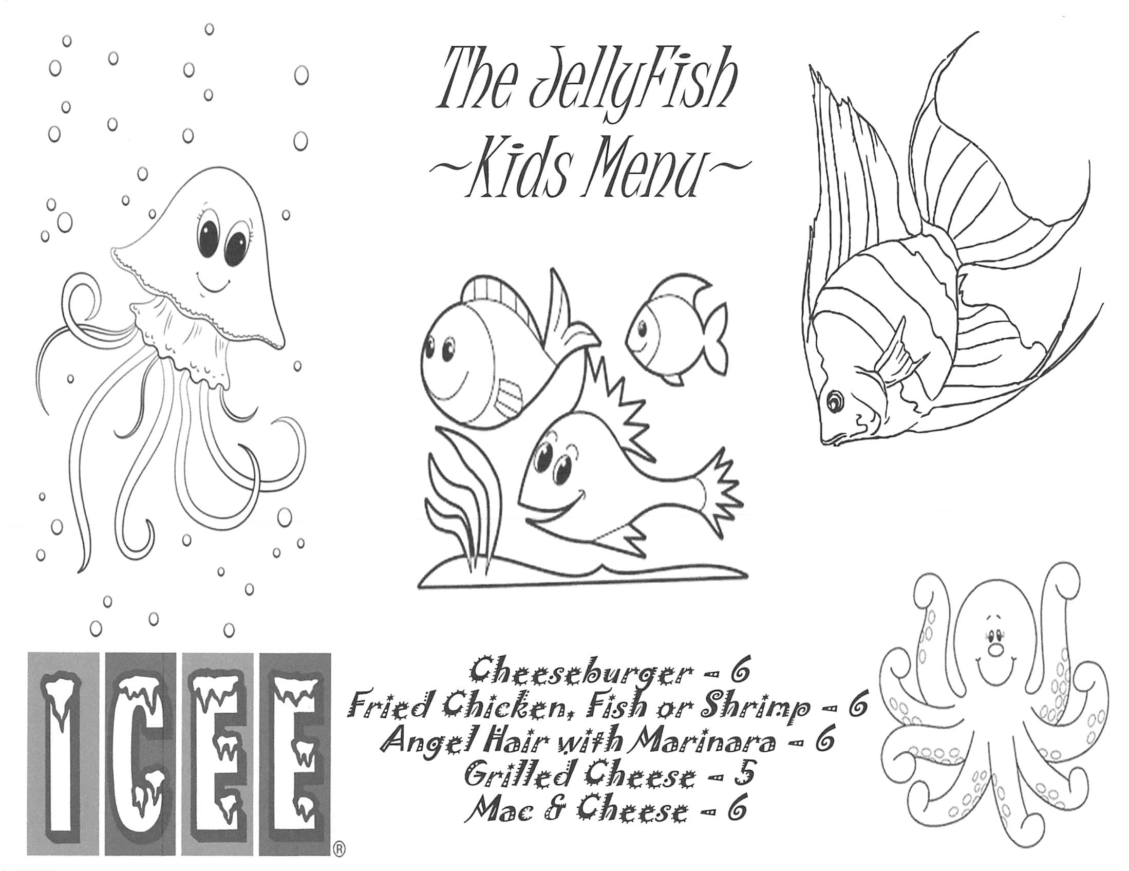 jellyfish kids menu